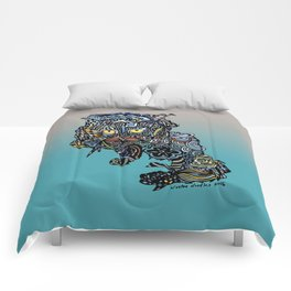Dragon Cat (Color) Comforters