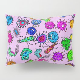 Bacteria Background Pillow Sham