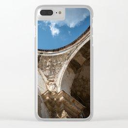 Antigua Church Ruins Clear iPhone Case