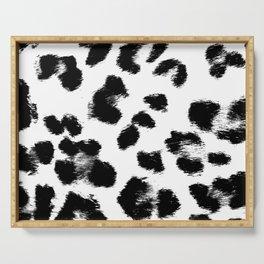 Black & White Leopard Print Serving Tray