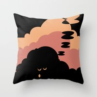 cloud Throw Pillows featuring Cloud by Herber Crispin