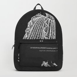 1887 Lady's Dress Patent Print Backpack
