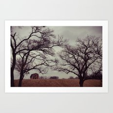Lonely Barn. Art Print
