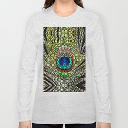 Peacock Feather Pattern - Stone Rock'd Art by Sharon Cummings Long Sleeve T-shirt