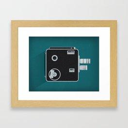 Movie Camera Framed Art Print