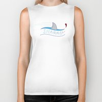 sharks Biker Tanks featuring Sharks! by Basik1 Design