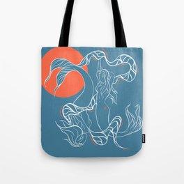 Zodiac Illustration - Pisces Tote Bag