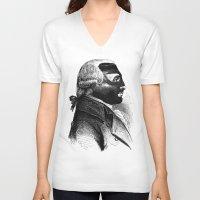 wrestling V-neck T-shirts featuring WRESTLING MASK 5 by DIVIDUS