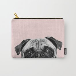 Blush pink Pug pop Carry-All Pouch