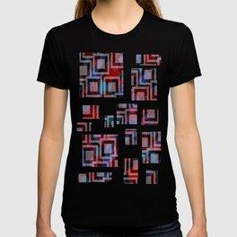 Black and White Squares Pattern 01 T-shirt
