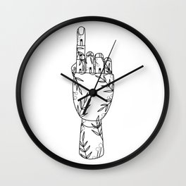 Botanical Mannequin Hand - One Wall Clock