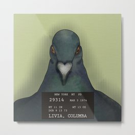 Pigeon Doesn't Care Metal Print