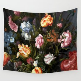 Vase with Flowers Wall Tapestry