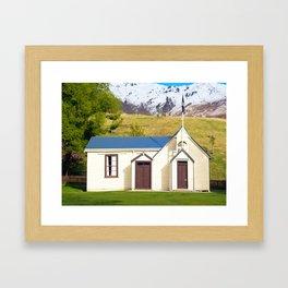 Cardrona Schoolhouse Framed Art Print