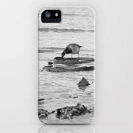Trash Bird, black and white iPhone Case