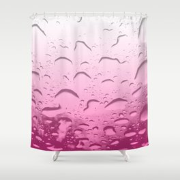 Water drops in Pink Shower Curtain