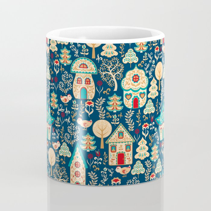 Fabulous Houses in a Magical Forest. Coffee Mug