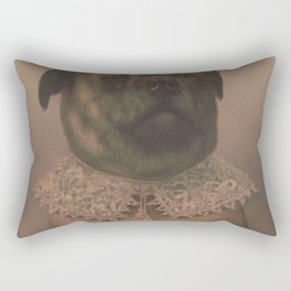 Vintage Sophisticated Dog Illustration (1878) Rectangular Pillow