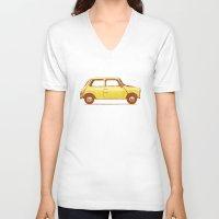 mini cooper V-neck T-shirts featuring Famous Car #1 - Mini Cooper by Florent Bodart / Speakerine