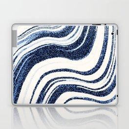 Textured Marble - Indigo Blue Laptop & iPad Skin