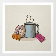 Breakfast in Wonderland Art Print