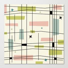 Mid Century Art Bauhaus Style Pastel Canvas Print