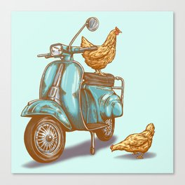Cluck-n-Scoot Canvas Print