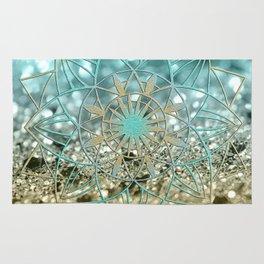 Star Mandala on Lemon Twist Beach Glitter #4 #shiny #decor #art #society6 Rug