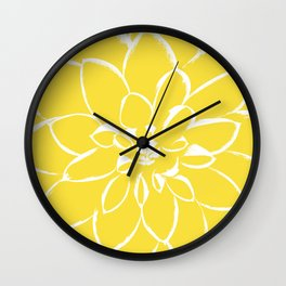 Dahlia Buttercup Wall Clock