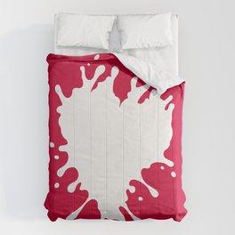 Splatter Heart Comforters