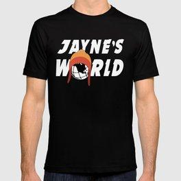 Jayne's World White Font T-shirt