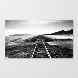 The straight path Canvas Print