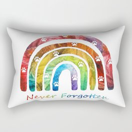 Pet Memorial Rainbow Bridge Art by Sharon Cummings Rectangular Pillow