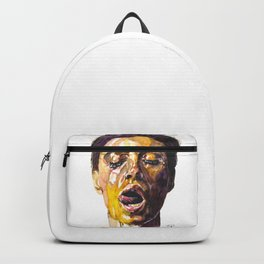 Watercolor painting of Monica Bellucci, Monica Backpack