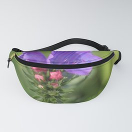 Viper's bugloss blue and pink flowers 2 Fanny Pack