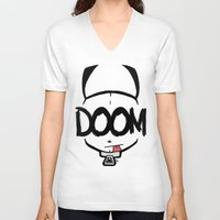 doom V-neck T-shirts featuring DOOM by Oddworld Art