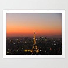 A Night in Paris. by Michelle McLaughlin. Art Print