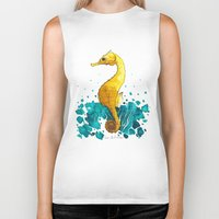 sea horse Biker Tanks featuring Sea Horse by Lore Illustration