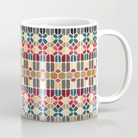 budapest Mugs featuring Budapest Voronoi by Enrique Valles