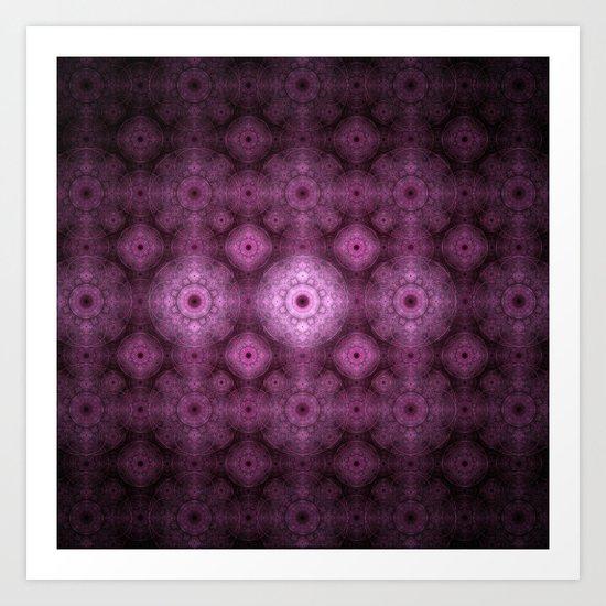 Pink Fractal Pattern Art Print