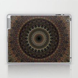 Mandala in brown tones Laptop & iPad Skin