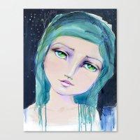 jane davenport Canvas Prints featuring Dreamer by Jane Davenport by Jane Davenport
