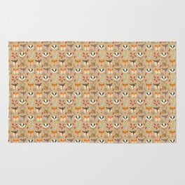 Forest animals heads cute pattern Rug