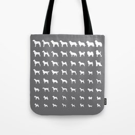 All Dogs (Grey/White) Tote Bag