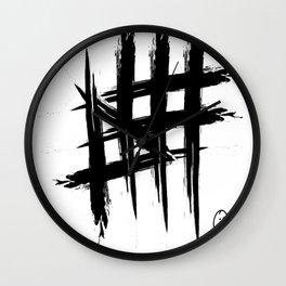 Hashtag Series #1 Wall Clock