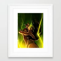 fight Framed Art Prints featuring Fight! by faun-songs