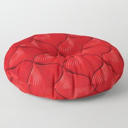 Luxury red sofa leather texture Floor Pillow