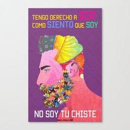 Barba Mariposa Canvas Print