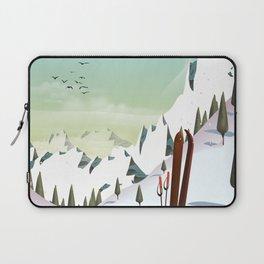 Portillo Ski Chile Ski travel poster. Laptop Sleeve