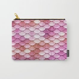 Multicolor pink mermaid glitter scales - Mermaidscales Carry-All Pouch